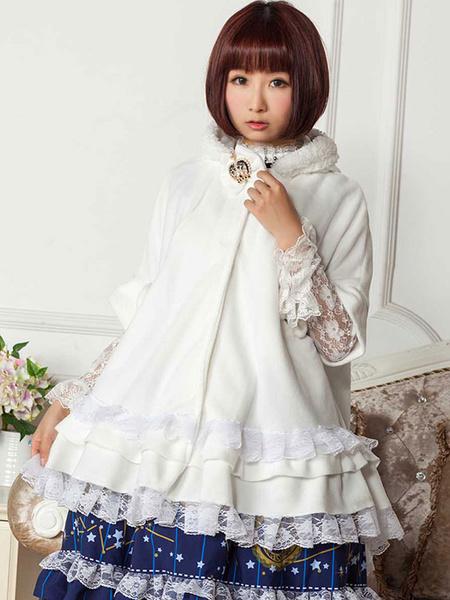 Milanoo Gothic Lolita Coat Hood Cape