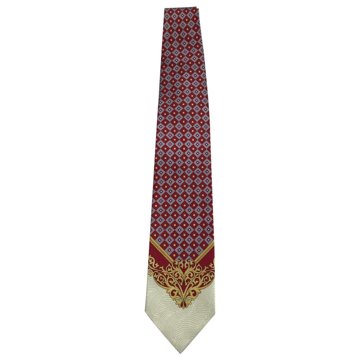 Versus \N Krawatten in  Rot Seide