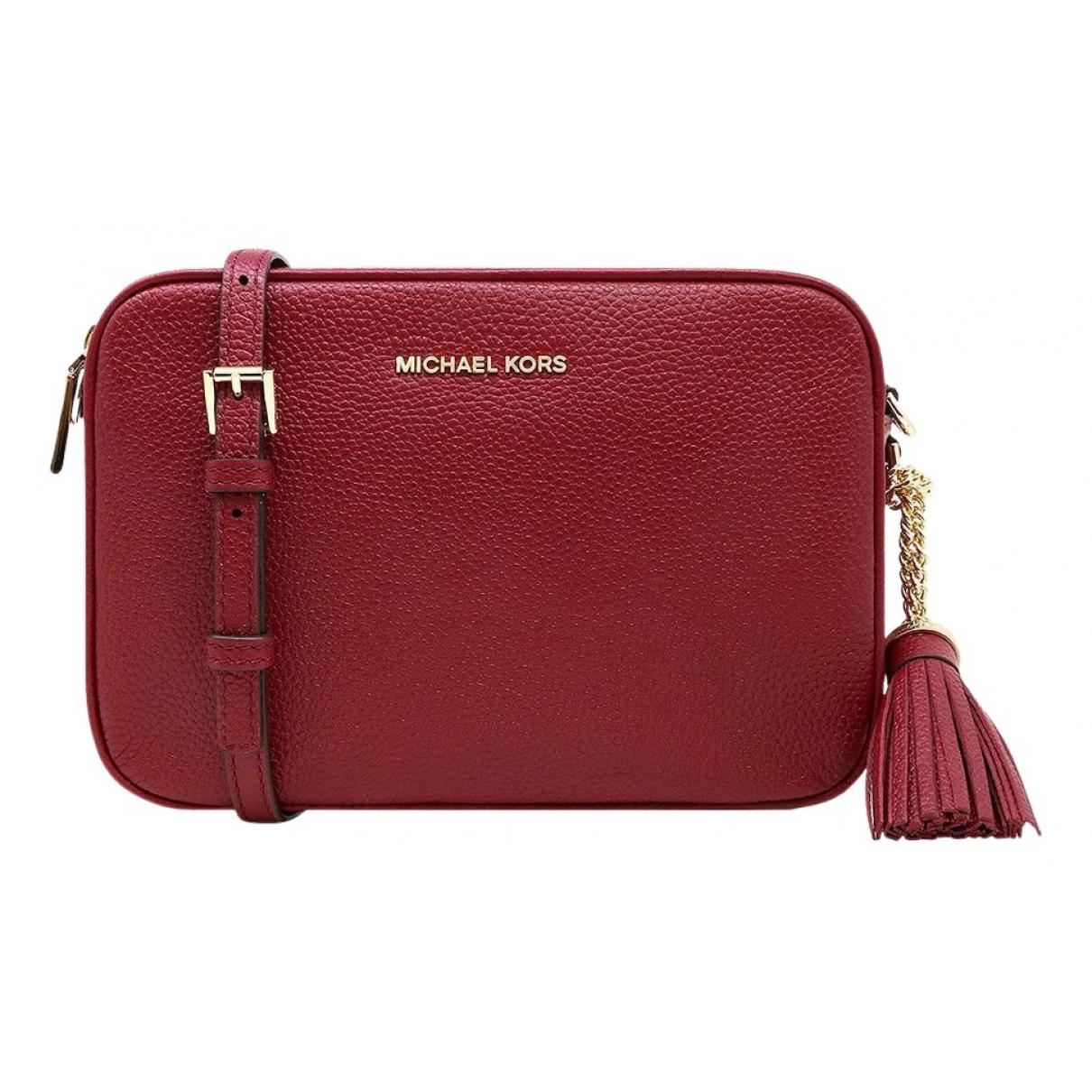 Michael Kors \N Handtasche in  Rot Leder