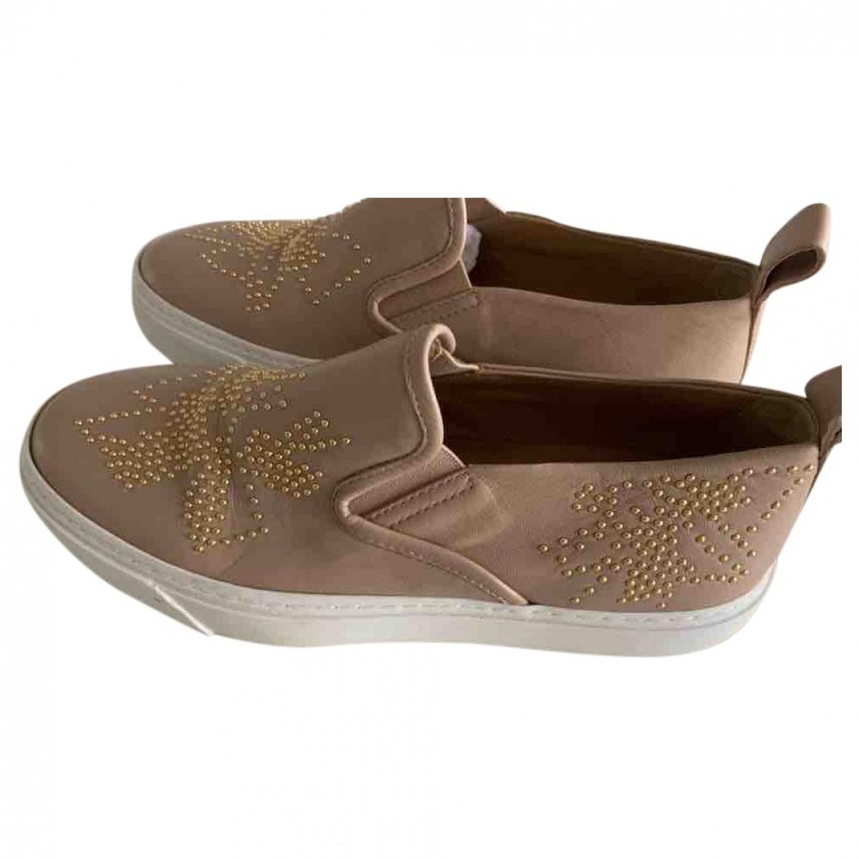 Chloe \N Sneakers in  Beige Leder