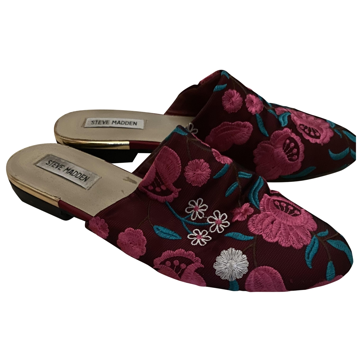 Steve Madden \N Clogs in  Bordeauxrot Leinen