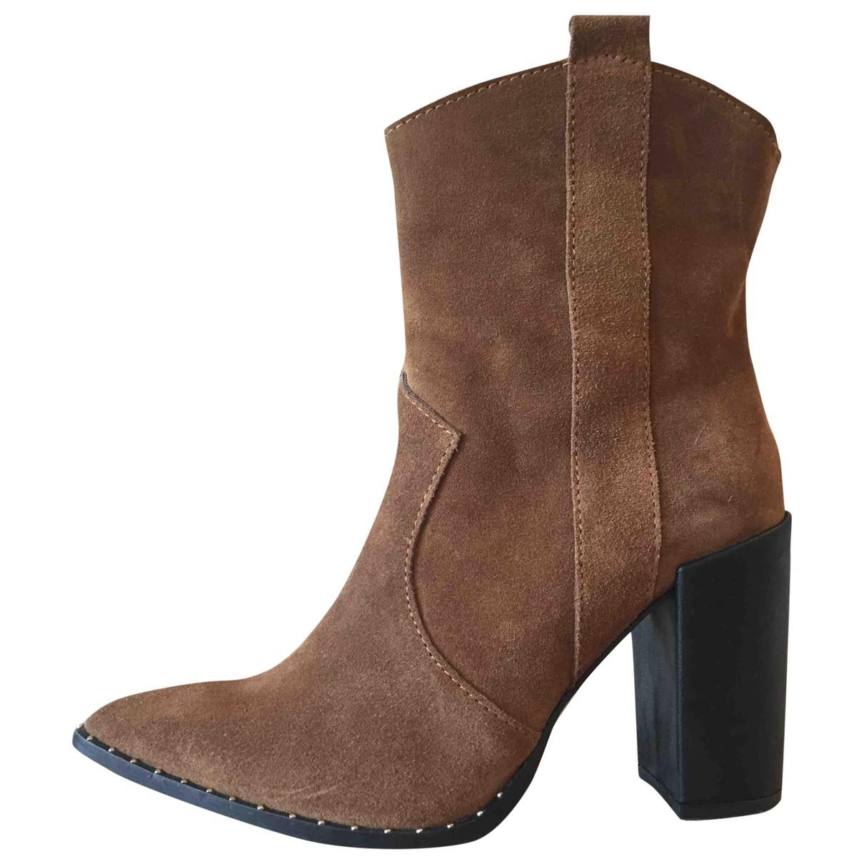 - Boots Hippie Chic pour femme en suede - marron