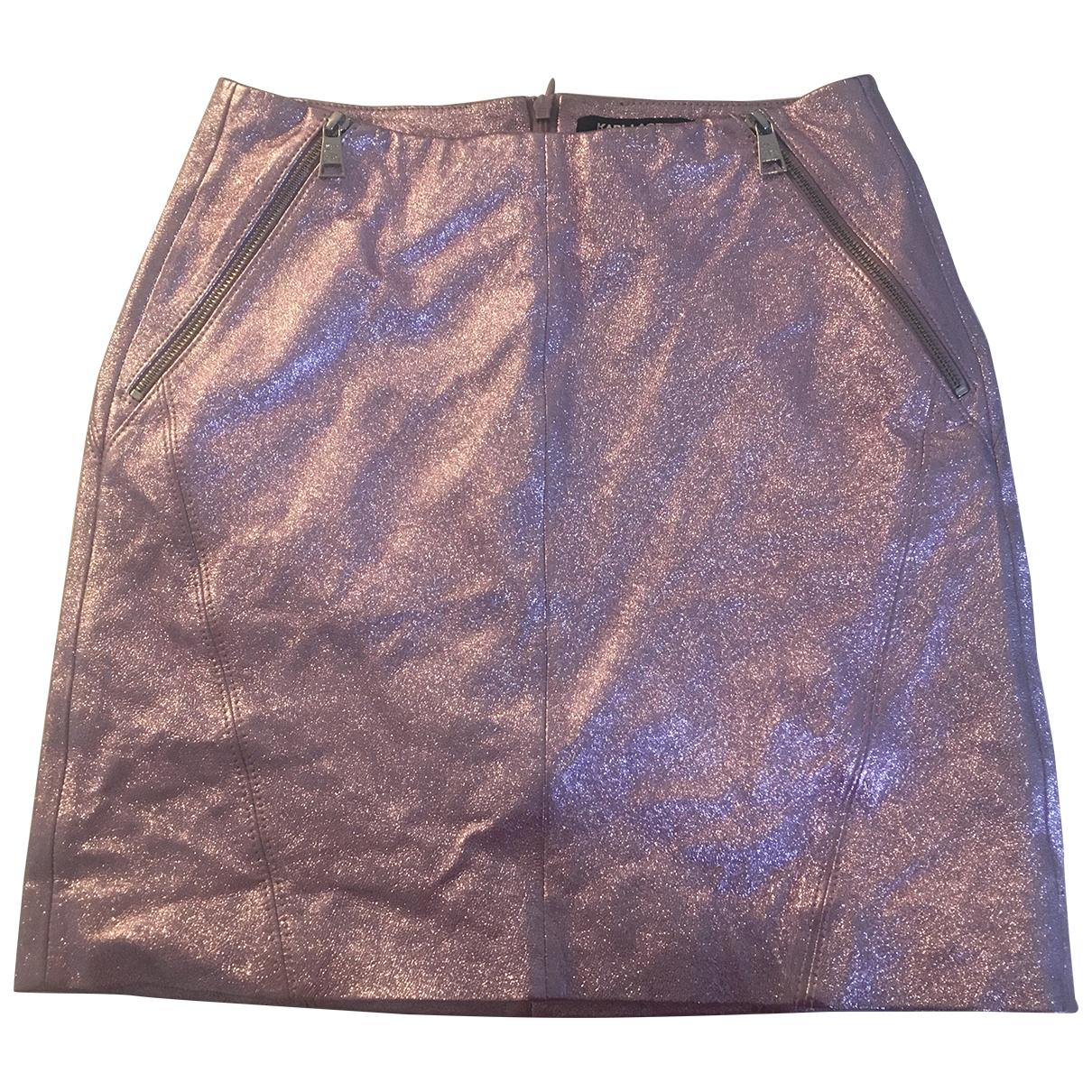 Mini falda de Cuero Karl