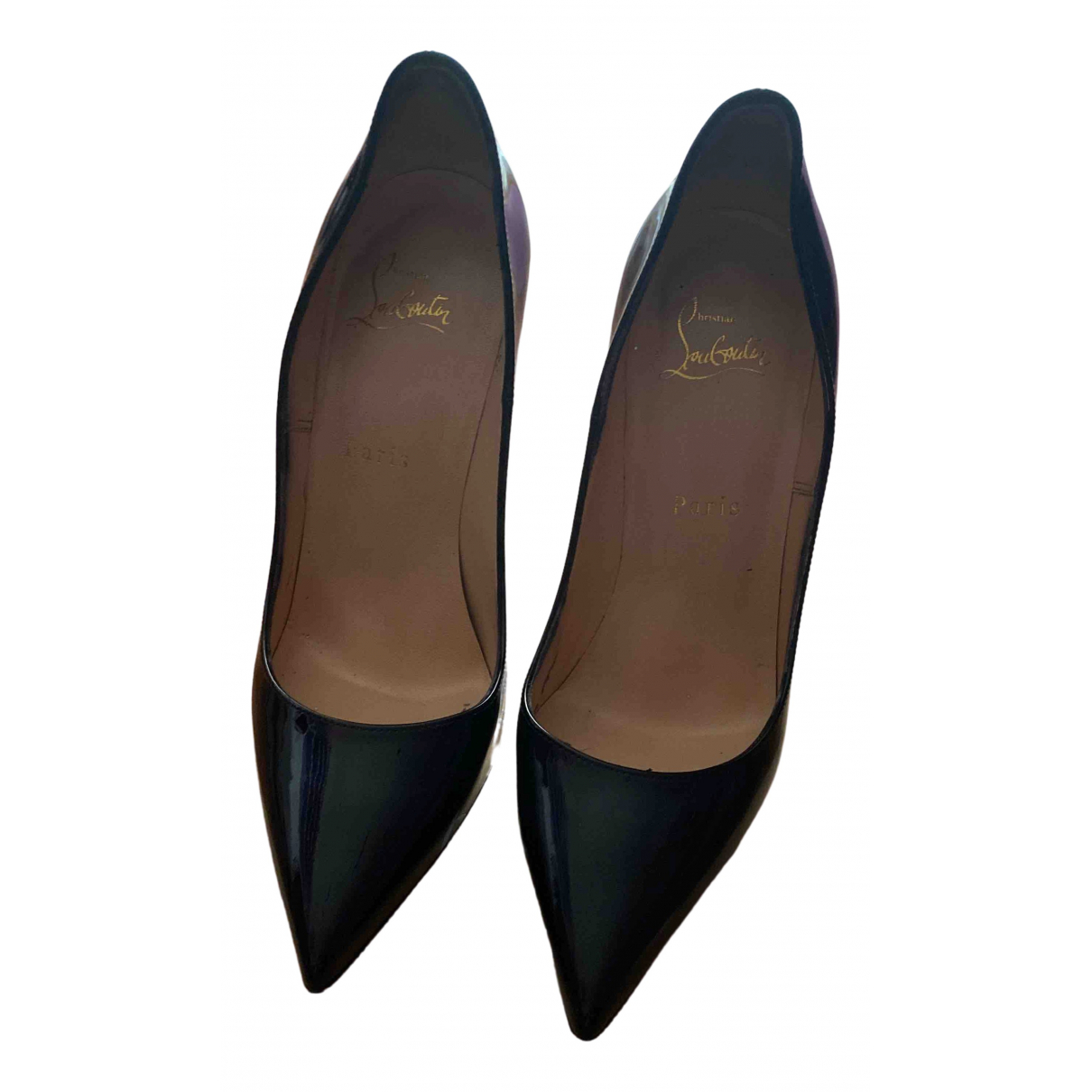 Christian Louboutin Pigalle Black Patent leather Heels for Women 38.5 EU