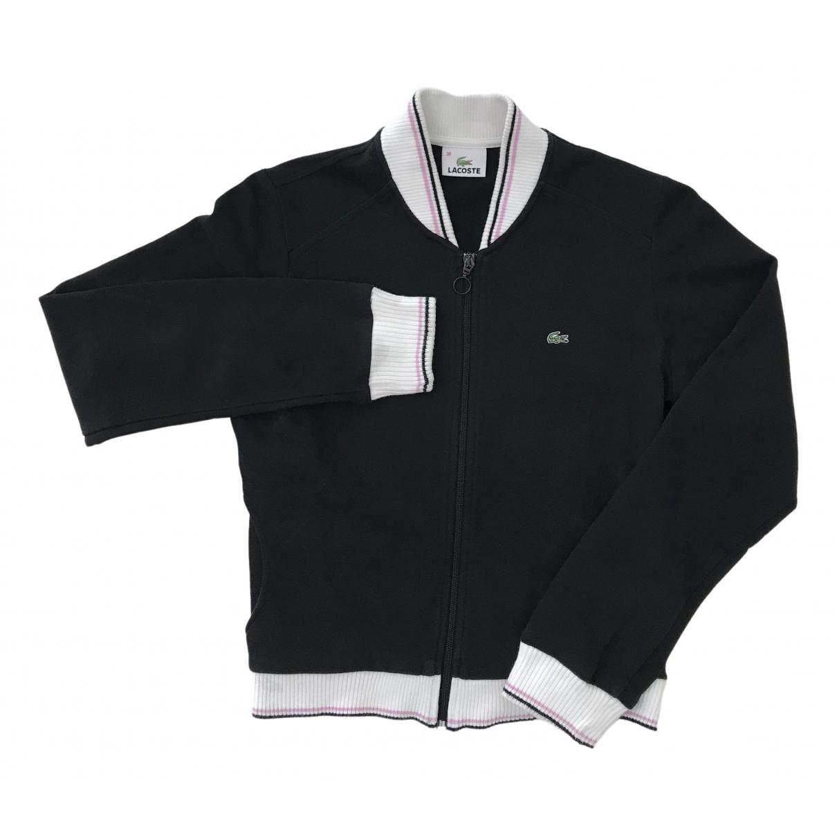 Lacoste - Pull   pour femme en coton - noir