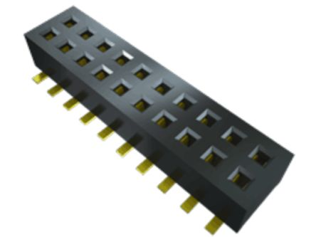 Samtec , CLP 1.27mm Pitch 6 Way 2 Row Straight PCB Socket, Surface Mount, Solder Termination (1000)
