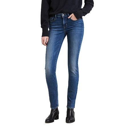 Levi's Classic Mid Rise Skinny Jean, 8 , Blue