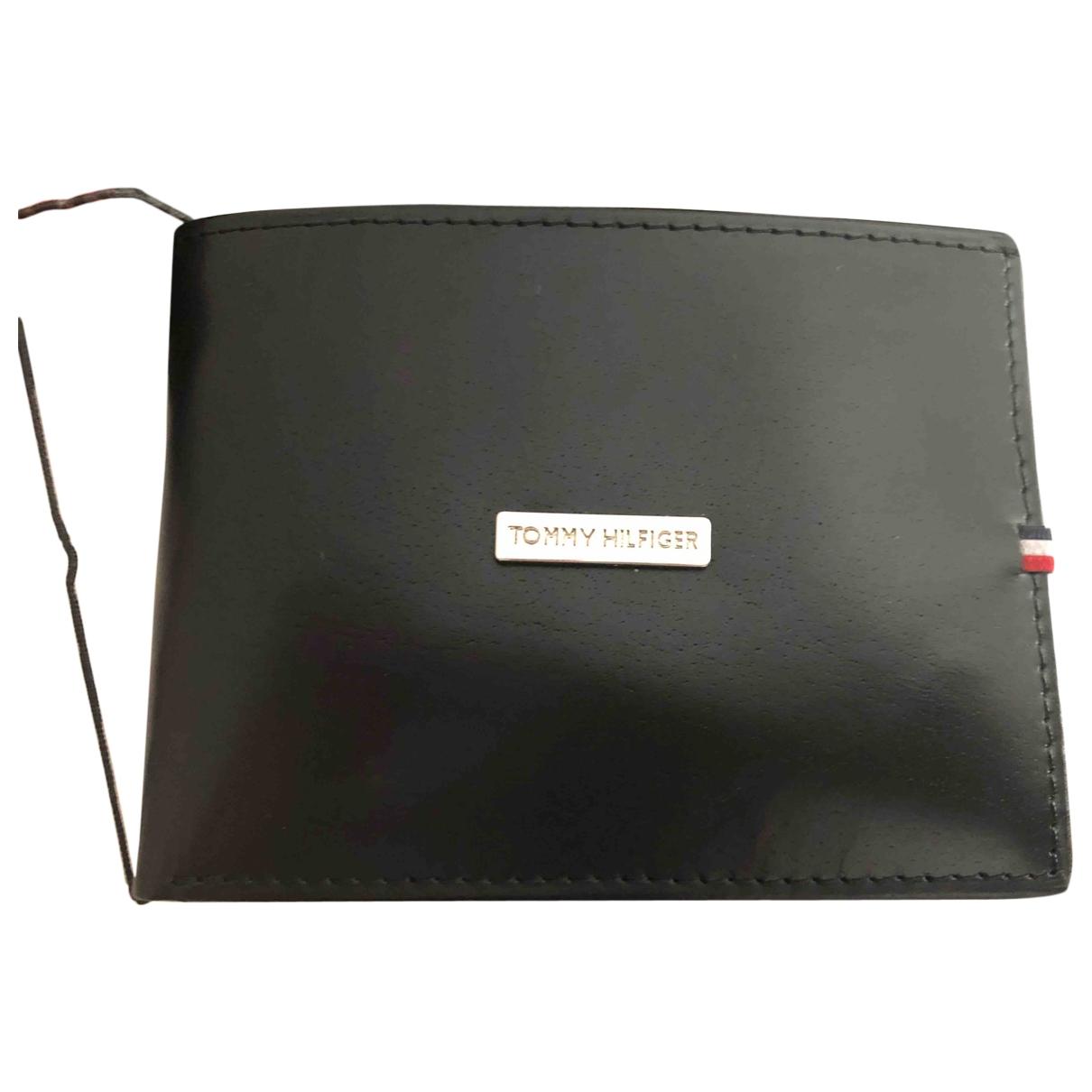 Tommy Hilfiger \N Black Leather Small bag, wallet & cases for Men \N