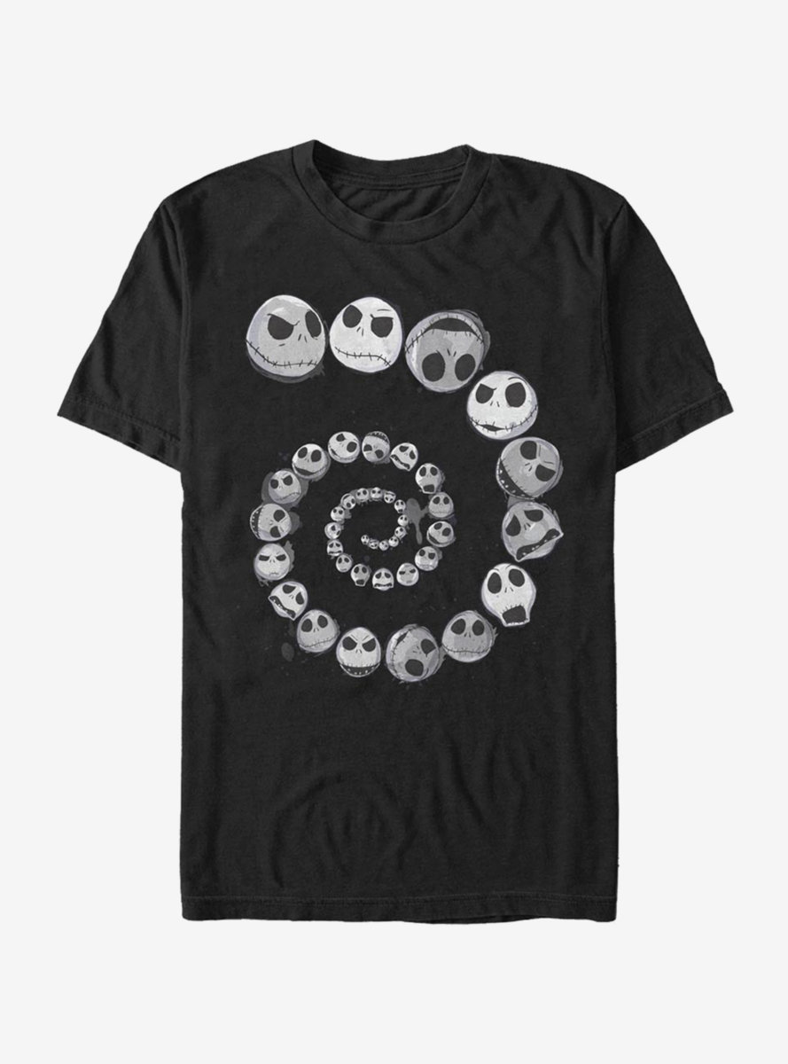 Disney The Nightmare Before Christmas Jack Emotions Spiral T-Shirt