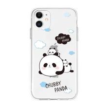 Panda & Letter Graphic iPhone Case
