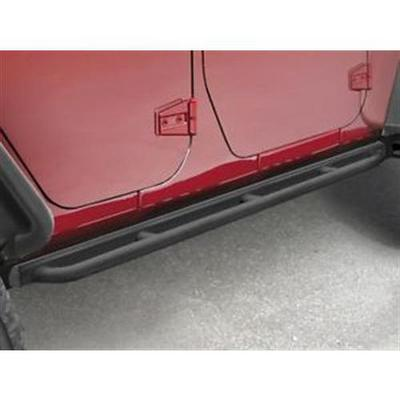 Jeep Rock Rails Guard Kit with Tubular Rub Rail (Black) - 82210575AG