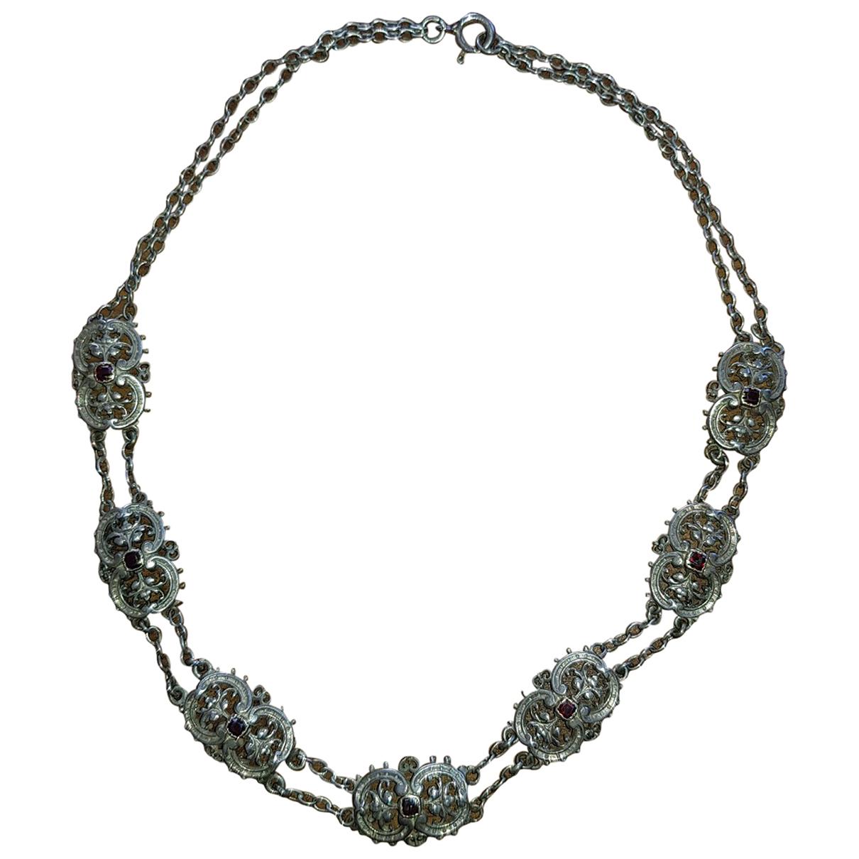 Collar Motifs Floraux de Plata Non Signe / Unsigned