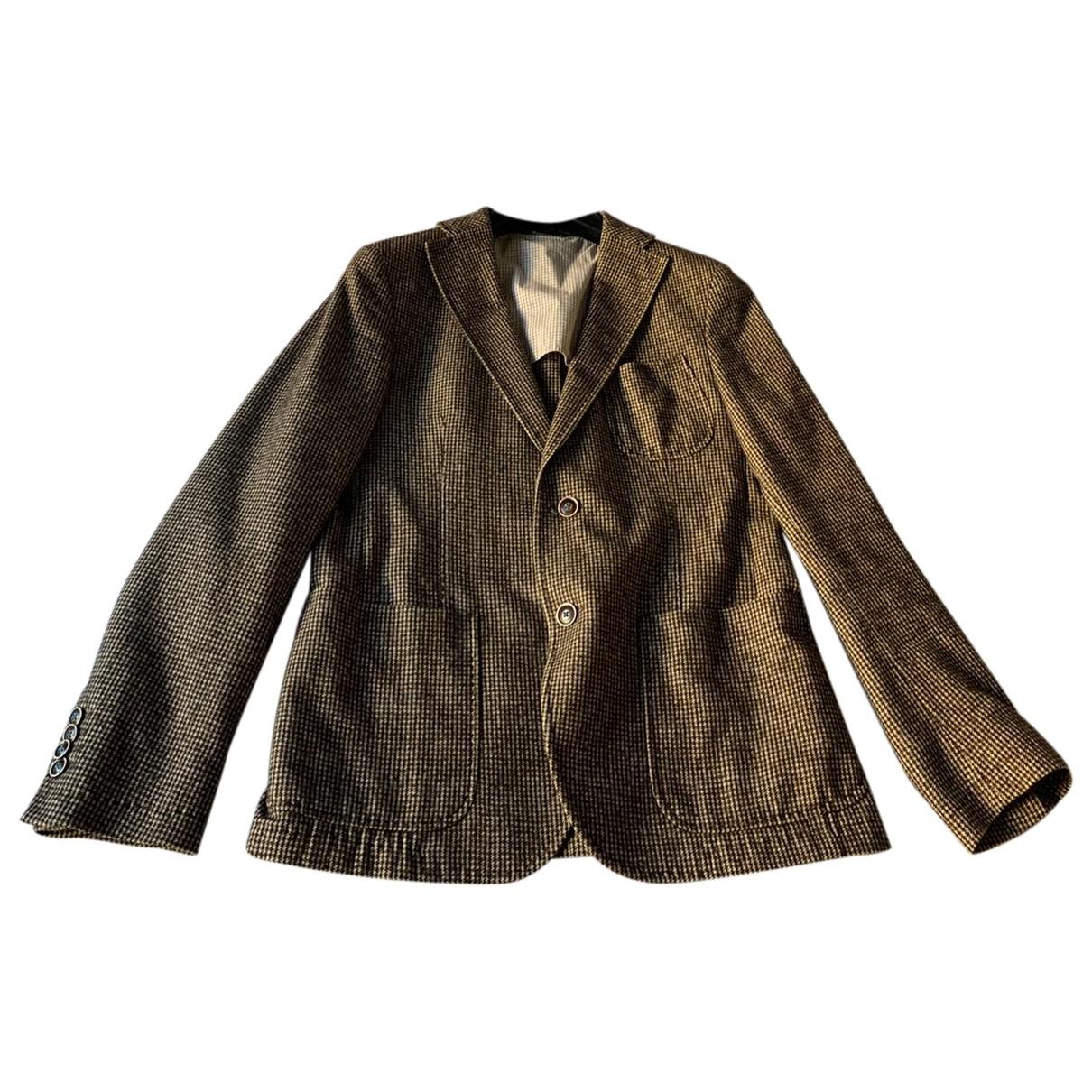 Manuel Ritz - Vestes.Blousons   pour homme en laine - marron