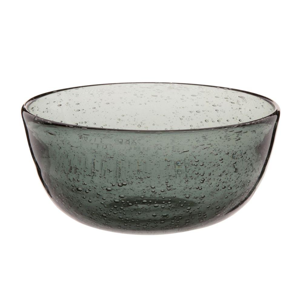 Schaelchen aus Blaeschenglas, grau