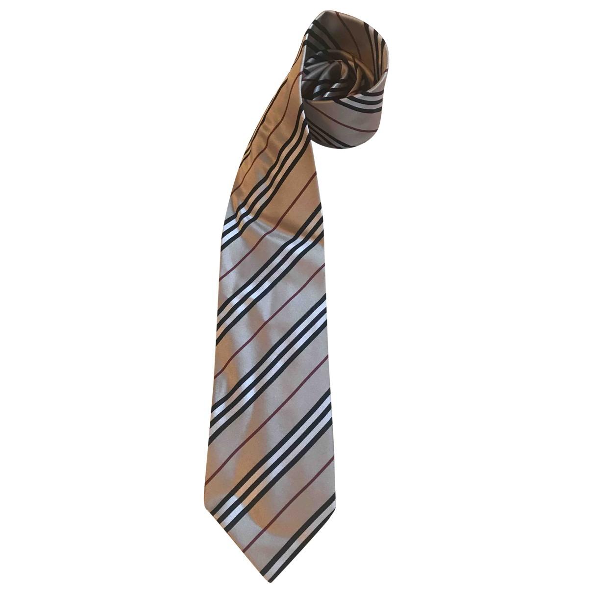 Burberry \N Beige Silk Ties for Men \N
