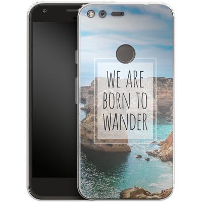 Google Pixel XL Silikon Handyhuelle - Born to Wander von Joel Perroden