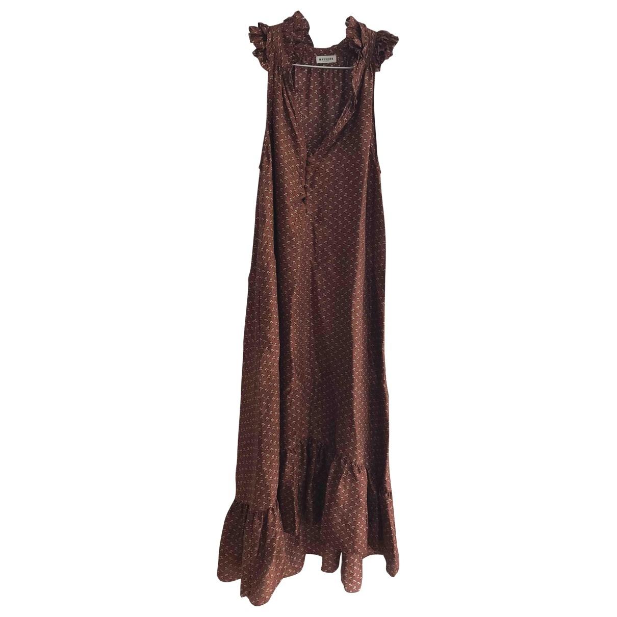 Masscob \N Kleid in  Braun Seide