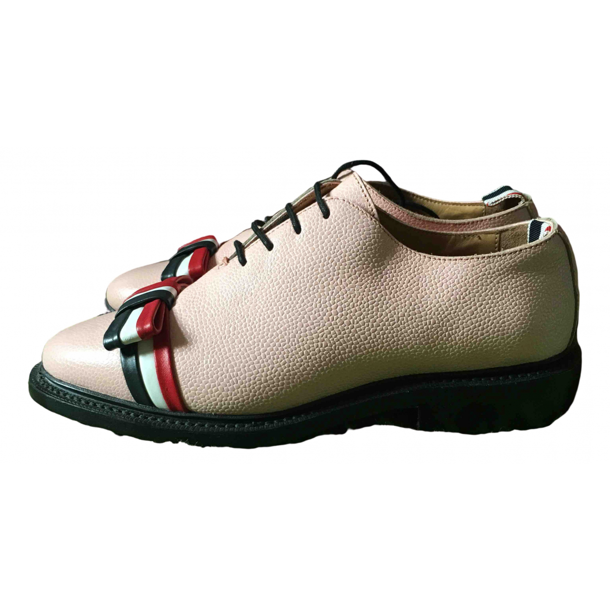 Thom Browne \N Pink Leather Lace ups for Women 36 EU