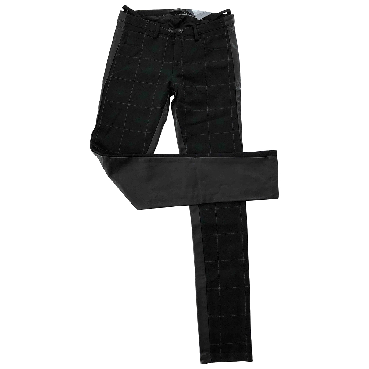 Costume National \N Black Leather Trousers for Men 36 FR