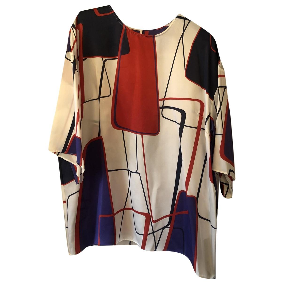 Dolce & Gabbana - Top   pour femme en soie - blanc