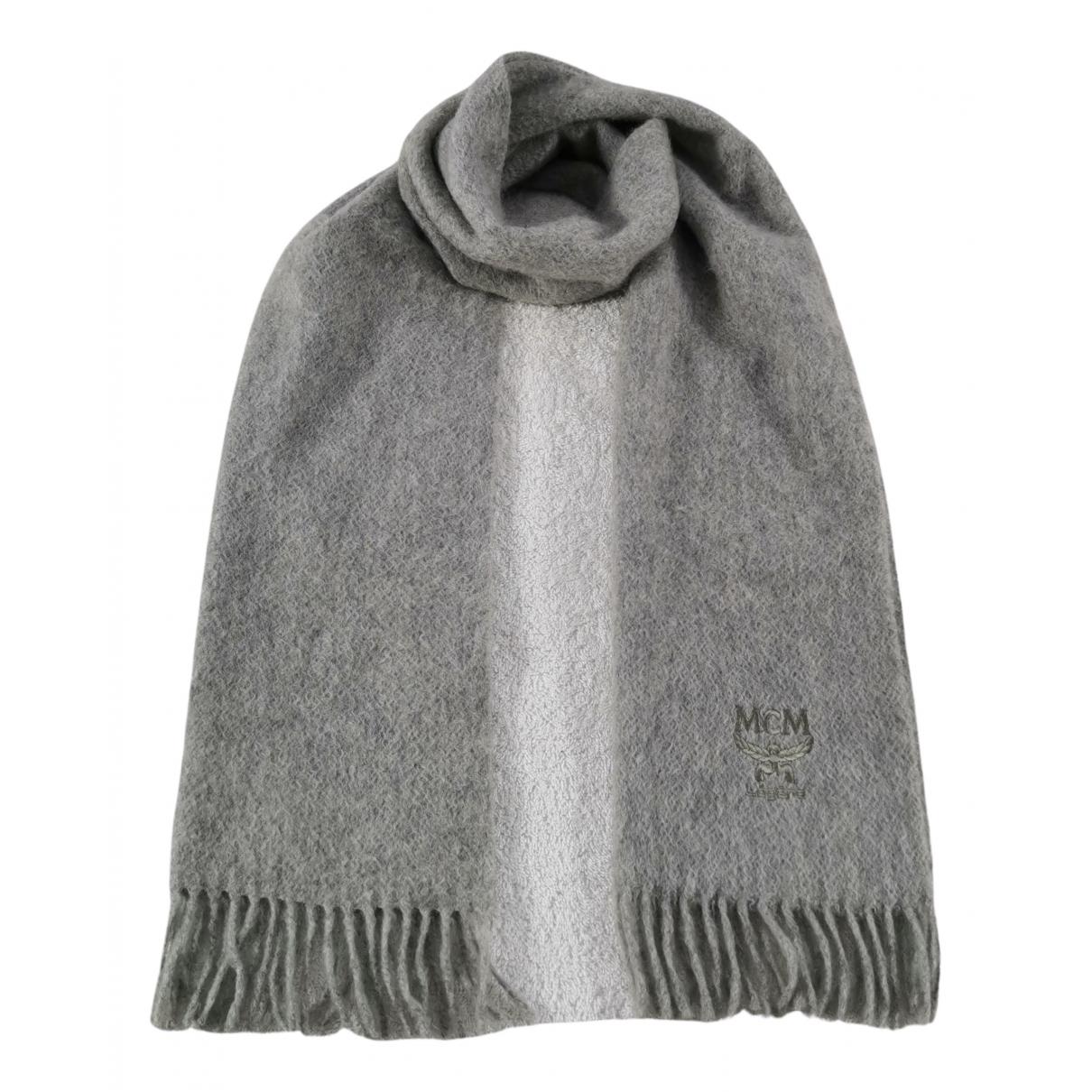 Mcm - Foulard   pour femme en laine - gris