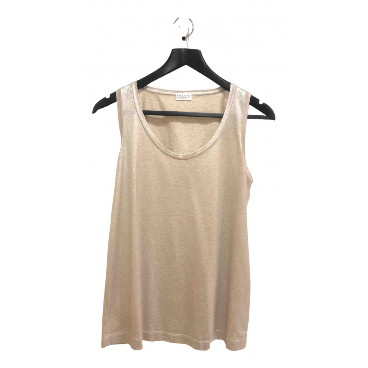 Brunello Cucinelli \N Metallic Cotton  top for Women S International