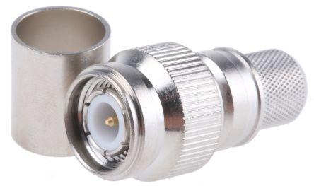 Telegartner Straight 50Ω Cable Mount Coaxial Connector, Plug, Nickel, Crimp Termination, RG213/U