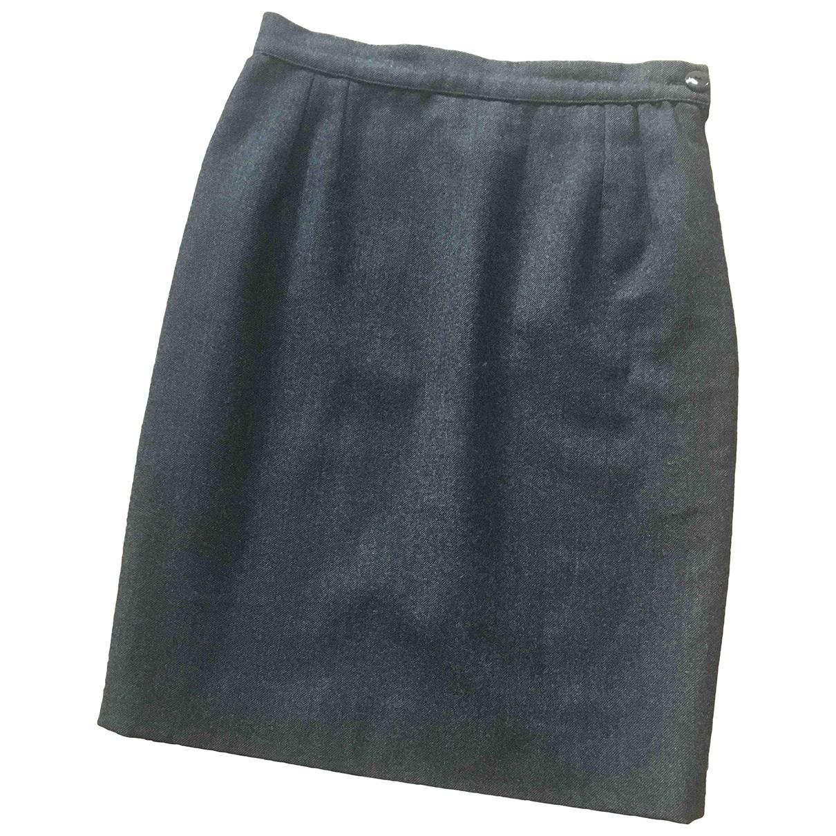 Valentino Garavani \N Anthracite Wool skirt for Women 8 UK