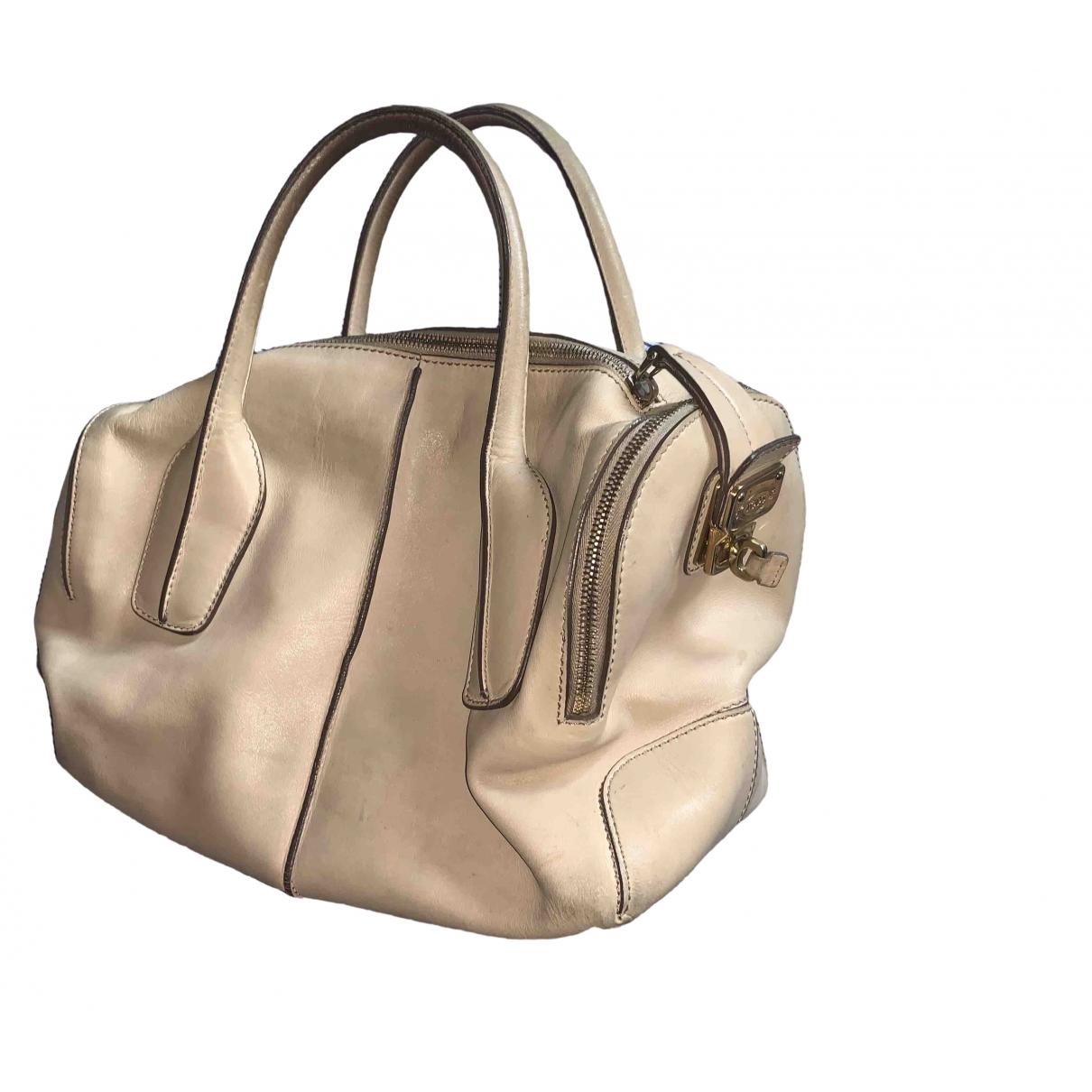 Tod's \N Handtasche in  Beige Leder