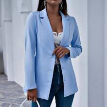 Lapel Neck Single Breasted Blazer