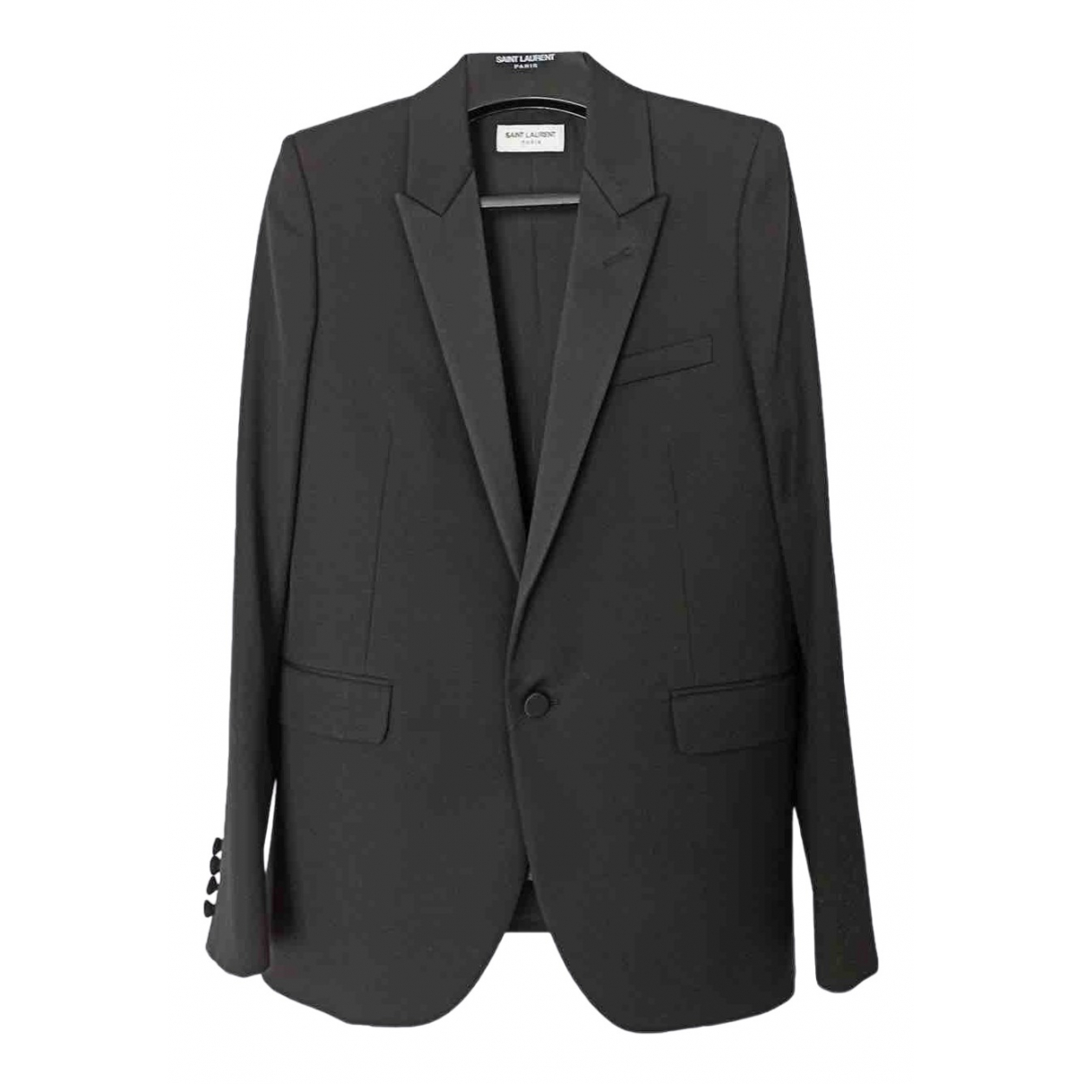 Saint Laurent \N Black Wool jacket for Women 36 FR