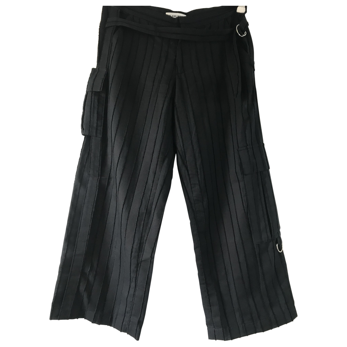 Roland Mouret \N Black Cotton Trousers for Women 8 UK