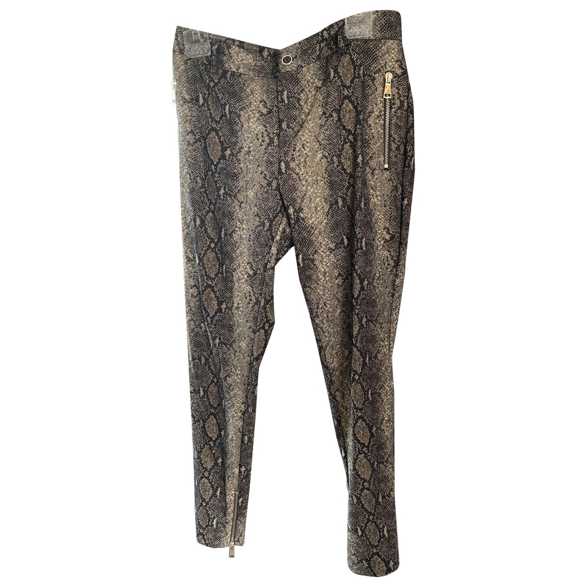 Twin Set \N Gold Trousers for Women 42 FR