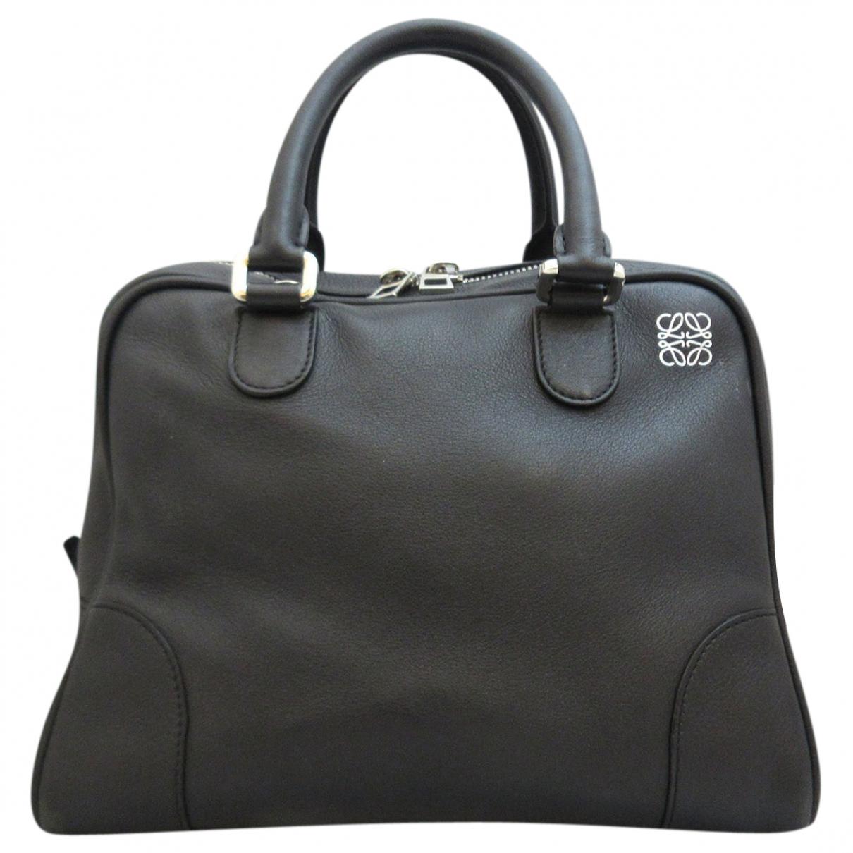 Loewe - Sac a main Amazona pour femme en cuir - noir