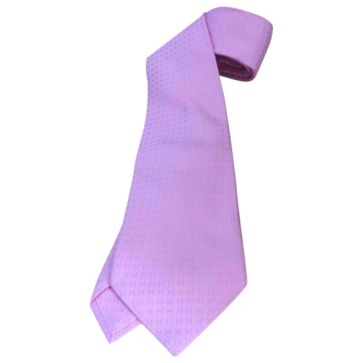 Hermès \N Pink Silk Ties for Men \N