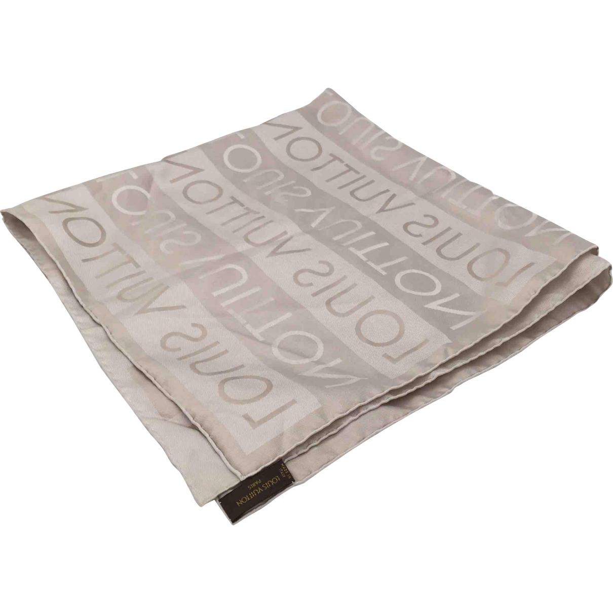 Louis Vuitton \N Grey Silk scarf & pocket squares for Men \N
