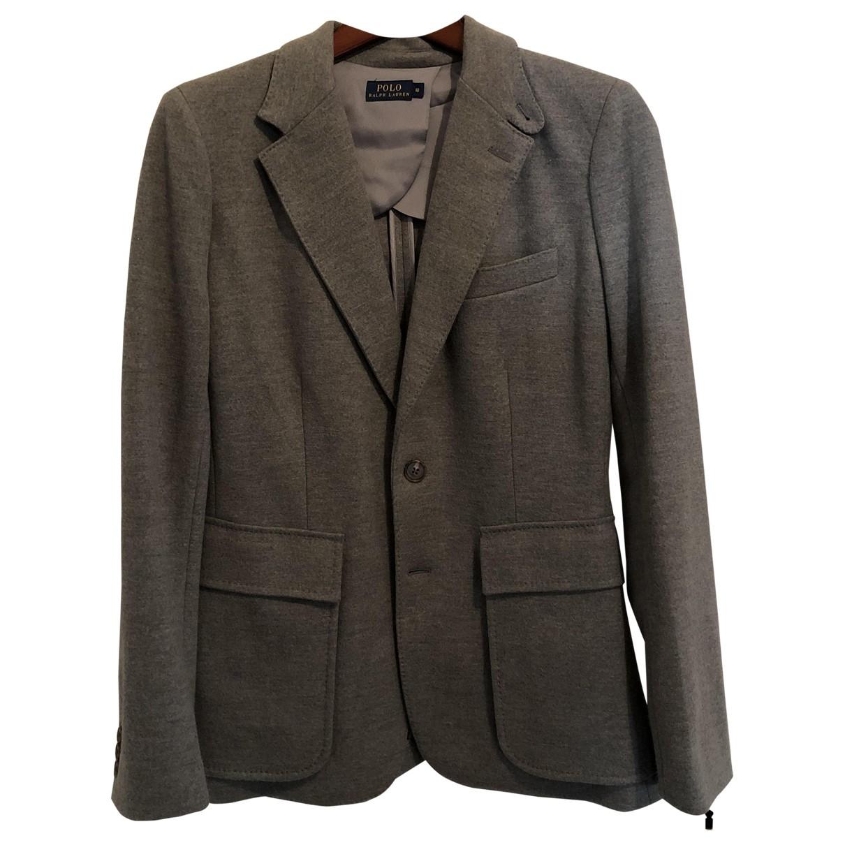 Polo Ralph Lauren - Veste   pour femme en laine - gris