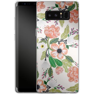 Samsung Galaxy Note 8 Silikon Handyhuelle - Botanical Dream von Iisa Monttinen