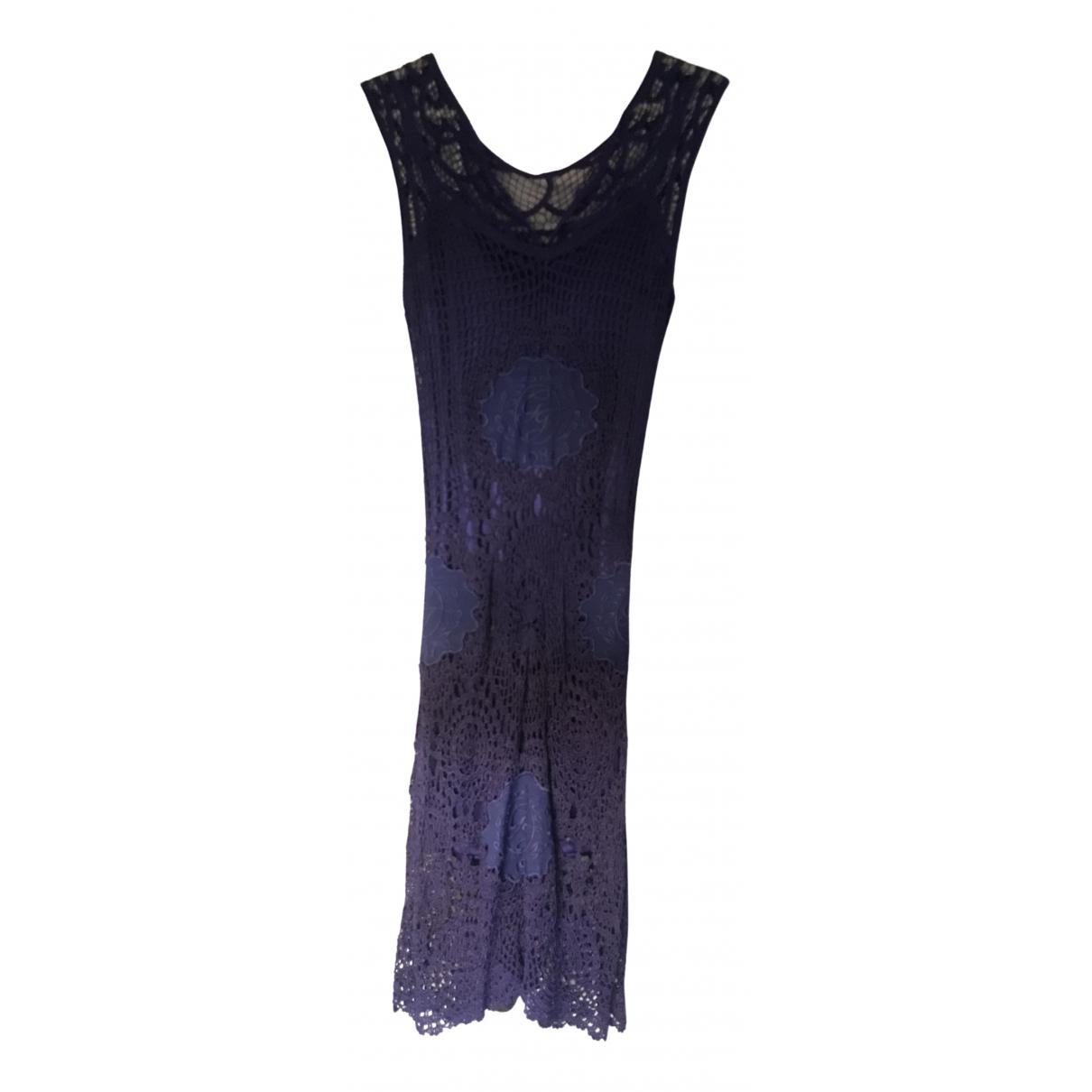 Guess \N Kleid in  Blau Baumwolle