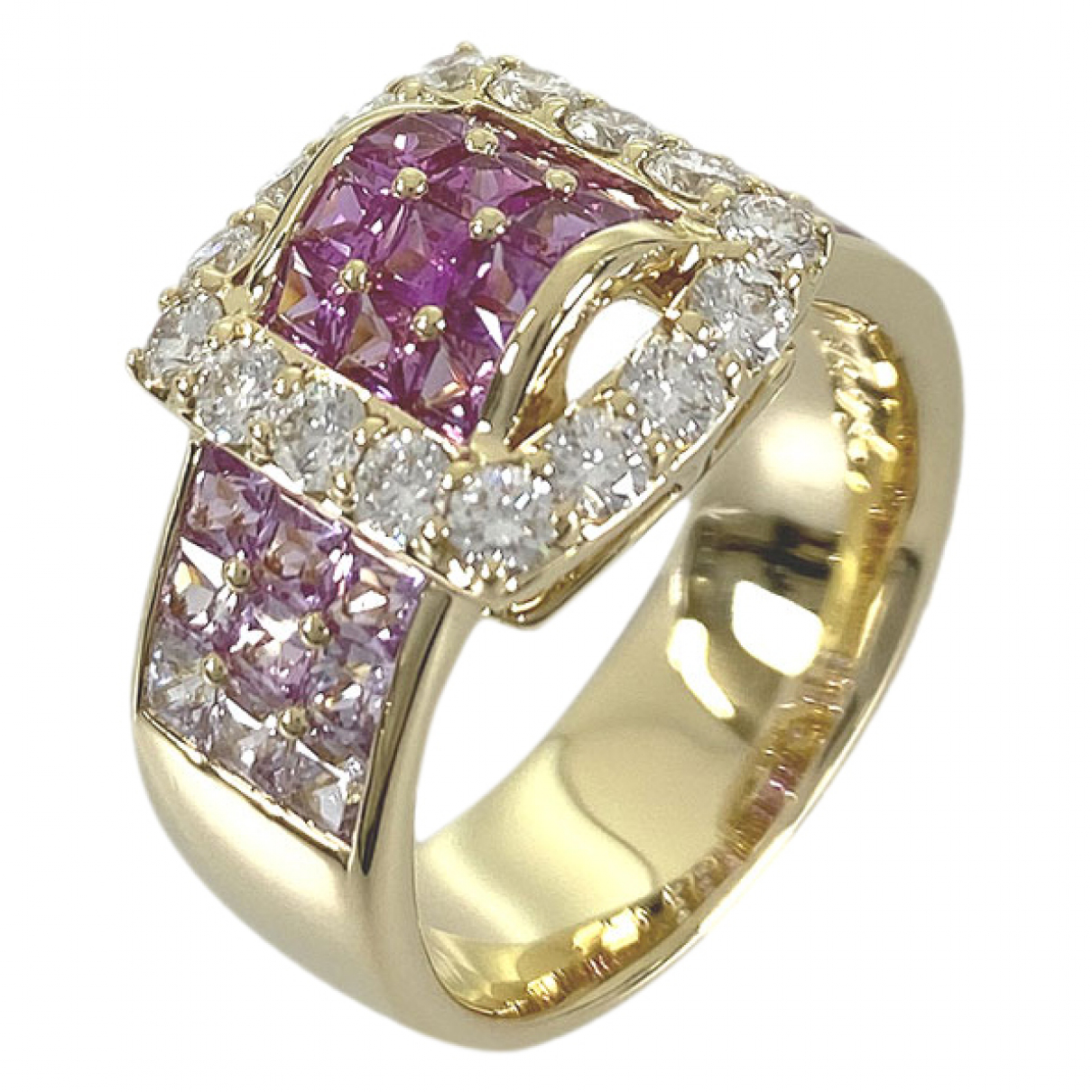 June 7.2 N Pink Yellow gold ring for Women 44 MM