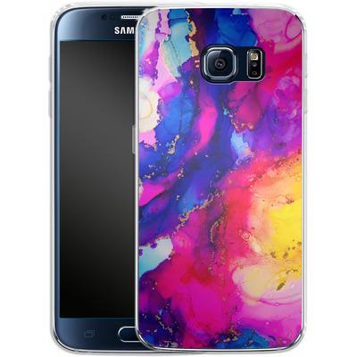 Samsung Galaxy S6 Silikon Handyhuelle - Cosmic Swirl I von Stella Lightheart
