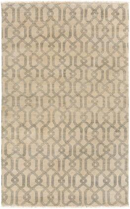 SAO2006-46 4' x 6' Rug  in Charcoal and
