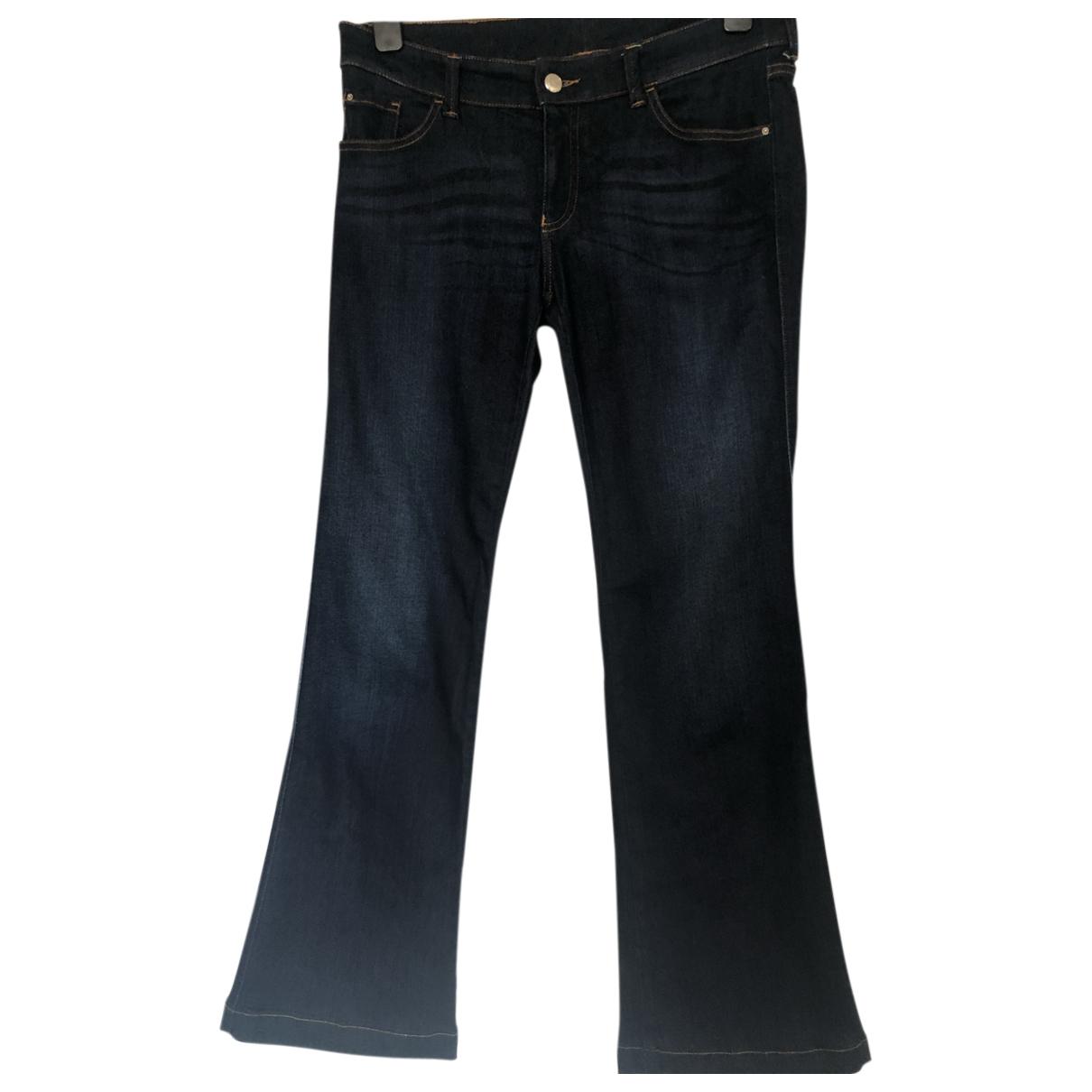 Emporio Armani N Blue Cotton - elasthane Jeans for Women 28 US