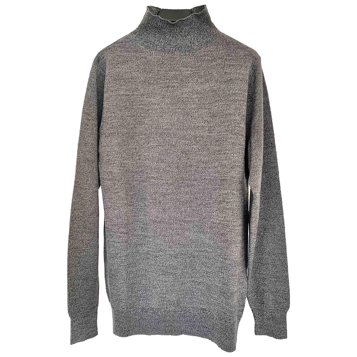 Sunspel \N Pullover.Westen.Sweatshirts  in  Grau Wolle