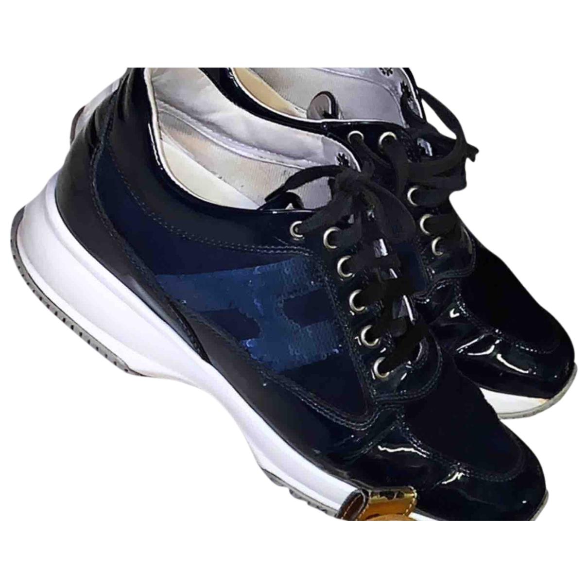 Hogan \N Sneakers in  Blau Mit Pailletten