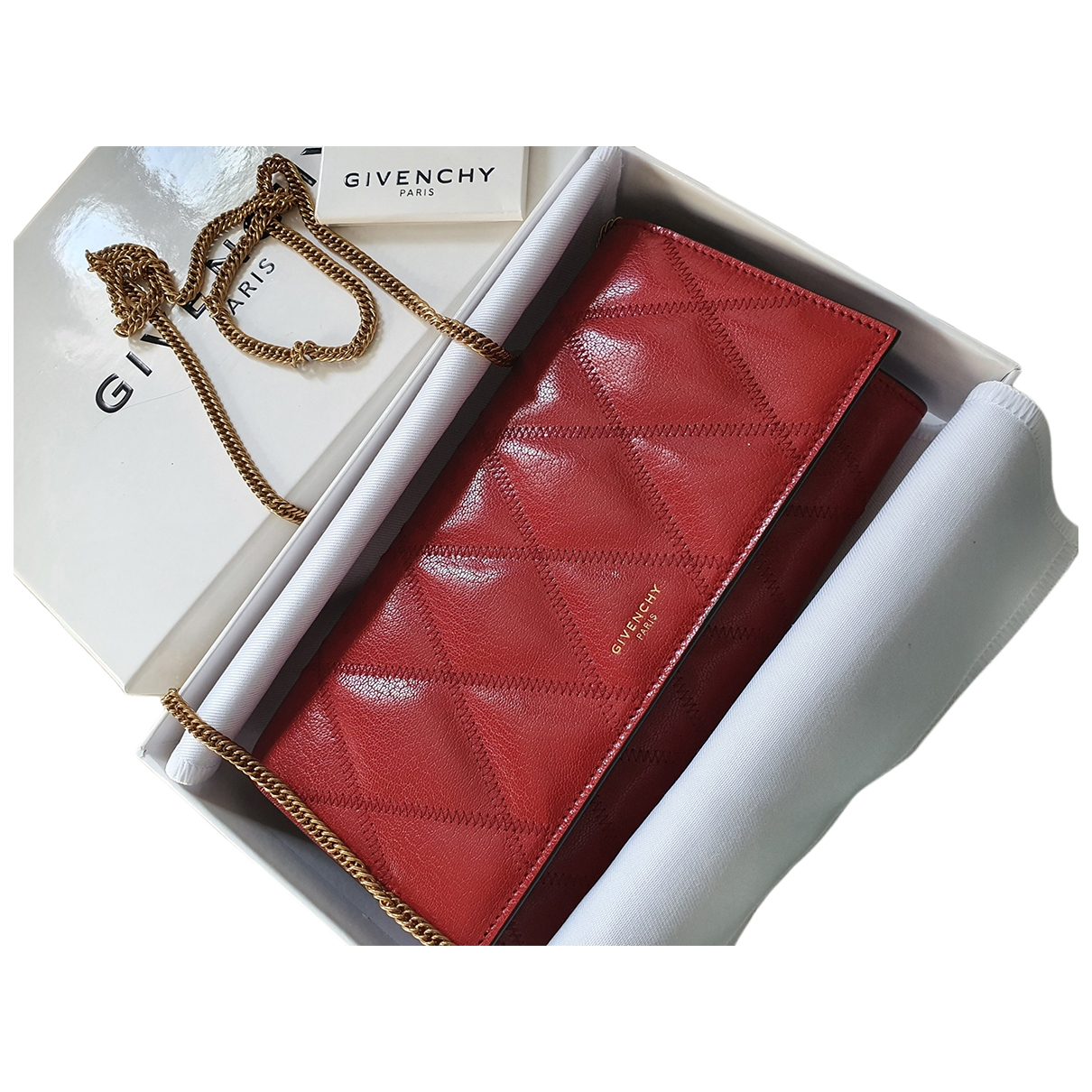 Givenchy \N Red Leather wallet for Women \N