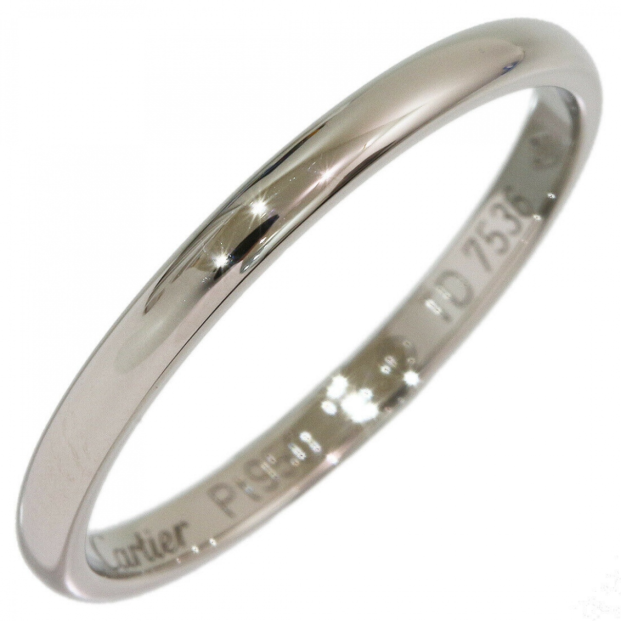 Cartier \N Silver Platinum ring for Women 55 MM