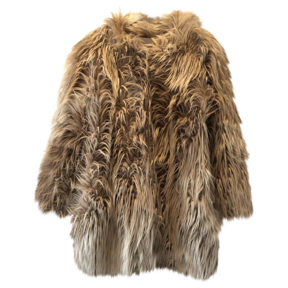 - Manteau   pour femme en fourrure synthetique - rose