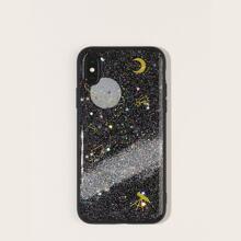 Glitter Planet Pattern iPhone Case