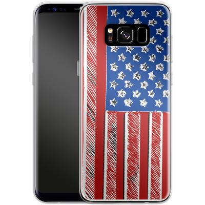 Samsung Galaxy S8 Silikon Handyhuelle - American Flag Colour von caseable Designs